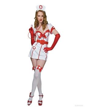 4 pc flirty nurse dress