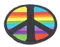 Rainbow Patch-Work Peace Symbol Patch