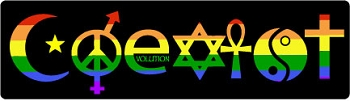 Rainbow Coexist Bumper Sticker