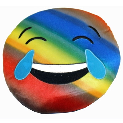 Plush Pillow Rainbow LOL Crying Emoji Pillow