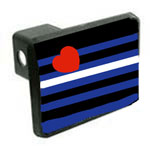 Leather Pride Flag Hitch Cover
