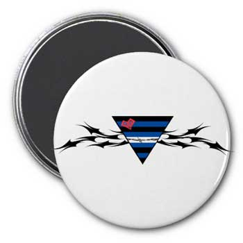 Tribal Leather Triangle Magnet