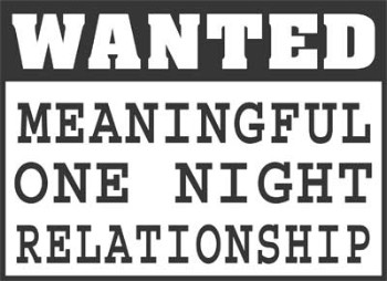 Wanted Meaningful Relationship Sticker
