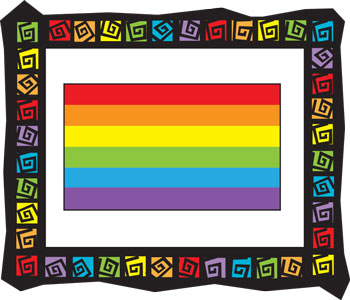 Rainbow Flag Frame Key Chain