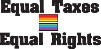 Equal Taxes Equal Rights  Key Chain