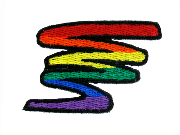 Rainbow Squiggle Patch