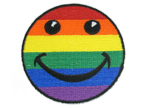 Rainbow Smilie Face Patch
