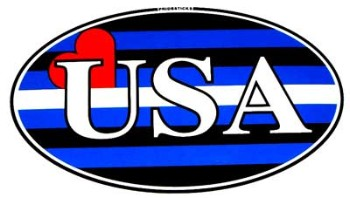 Leather Pride USA Sticker
