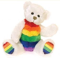Rainbow Beanie Bear