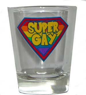 Super Gay Shot Glass