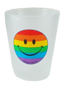 Rainbow Smiley Face Glass Shot