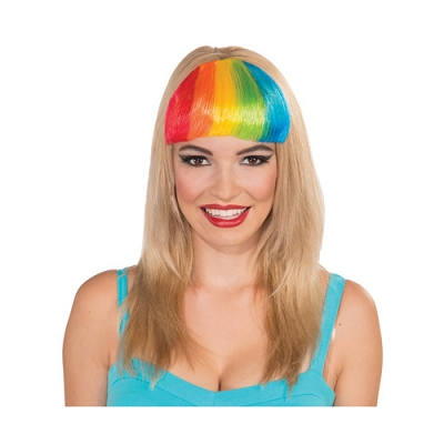 Rainbow Clip On Bangs