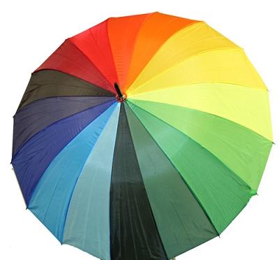 Rainbow Stripes  Umbrella