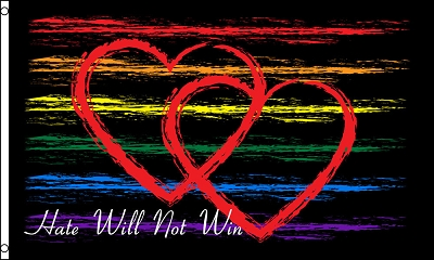 Hate Will Not Win Flag 3x5ft