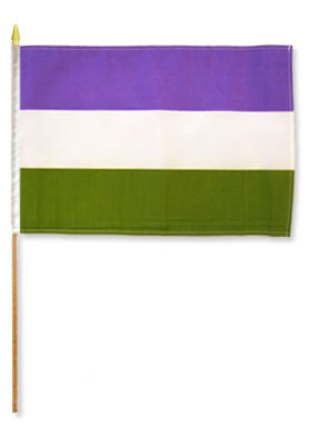 GenderQueer Flag on Stick