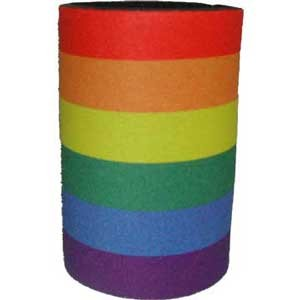 Rainbow Can Coozie