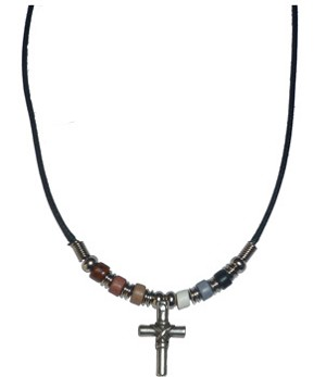 Bear Pride Cross Necklace