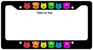 rainbow dog and cat license plate frame from rainbowdepot - Dog License Plate Frames
