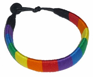 Rainbow Wide Thread Bracelet