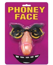 Phoney Face Pecker Glasses