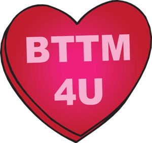 Bttm 4 U (heart) Key Chain