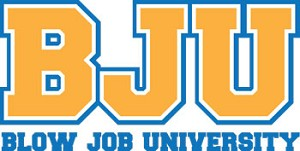 BJU (Blow Job University) Key Chain