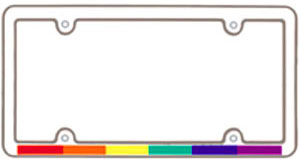 Rainbow Strip License Frame