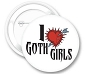 I (heart) Goth Girls Button