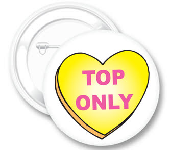 Top Only (heart) Button