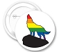 Rainbow Wolf Button