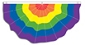 Rainbow Nylon Bunting (3ft x 6ft)