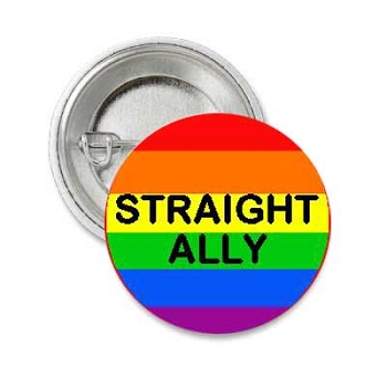 Straight Ally Button