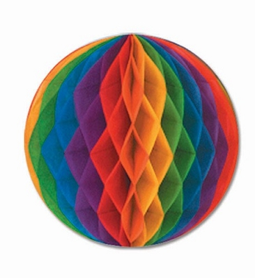 Rainbow Tissue Ball