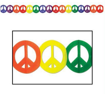 Rainbow Peace Sign Garland