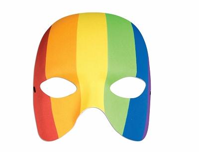 Rainbow Half Mask