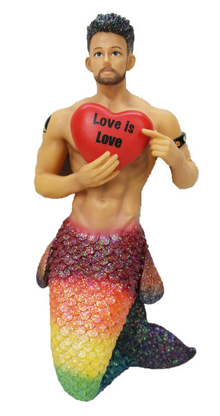 Love is Love Merman Ornament