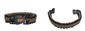 Paracord Braid Bracelet with Rainbow Decal