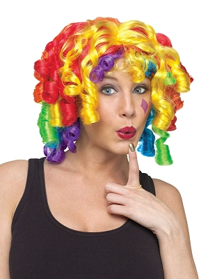Rainbow Curly Curlz Wig