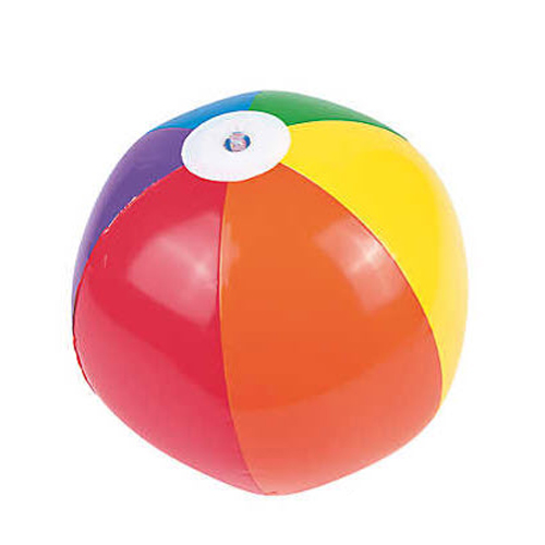 Rainbow Beach Ball (11'' round)