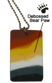 Bear Pride ID Tag / Necklace