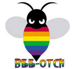 Rainbow Bee-Otch Sticker