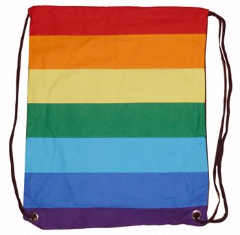 Rainbow Canvas Backpack Bag