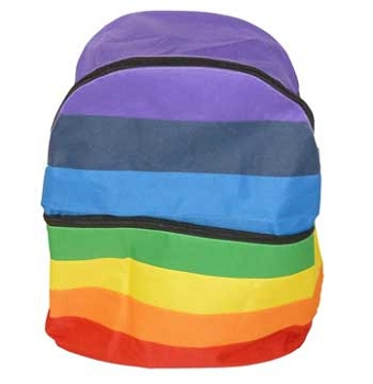 Rainbow Nylon Backpack Bag