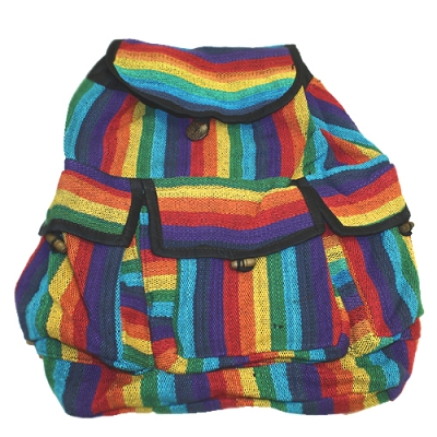Rainbow Woven Backpack