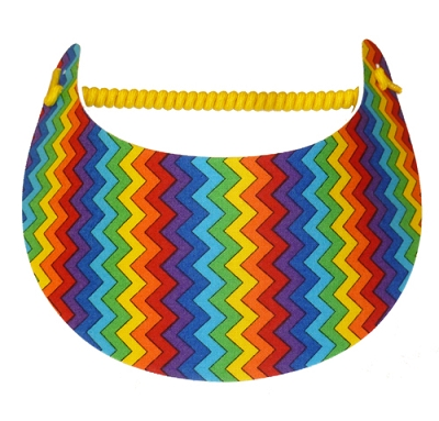 Rainbow Zig Zag Visor