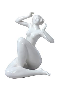 Lounging Nude Femme Statuette - Glaze Finish