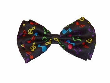 Rainbow Music Notes Bowtie
