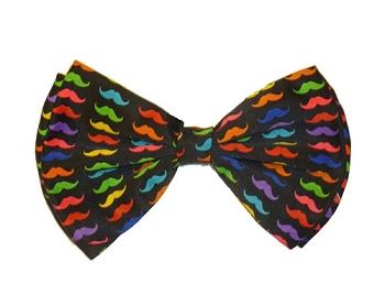Rainbow Moustache Bowtie