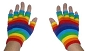 Rainbow Fingerless Knit Gloves