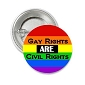 Gay Rights are Civil Rights Button